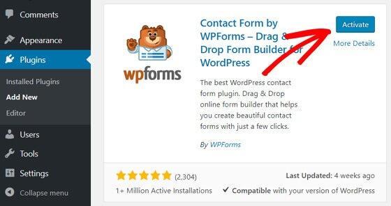 WordPress博客创建联系表单教程插图1