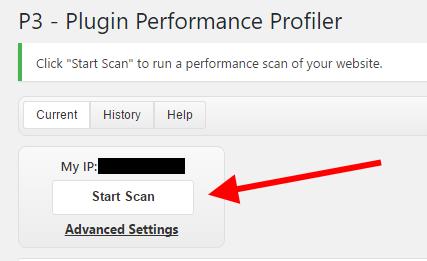 P3 start scan