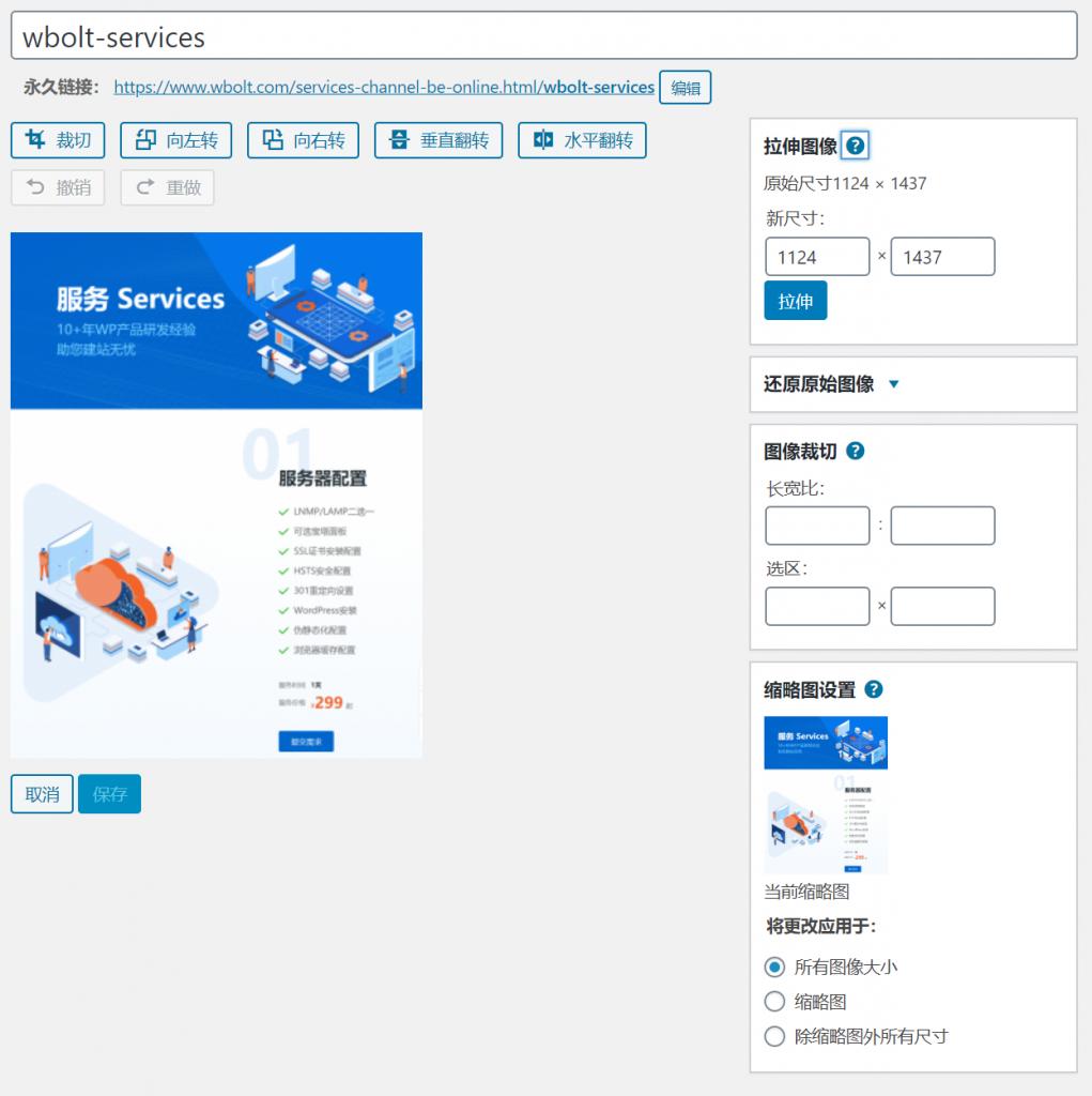 WordPress图像编辑功能图文教程插图7