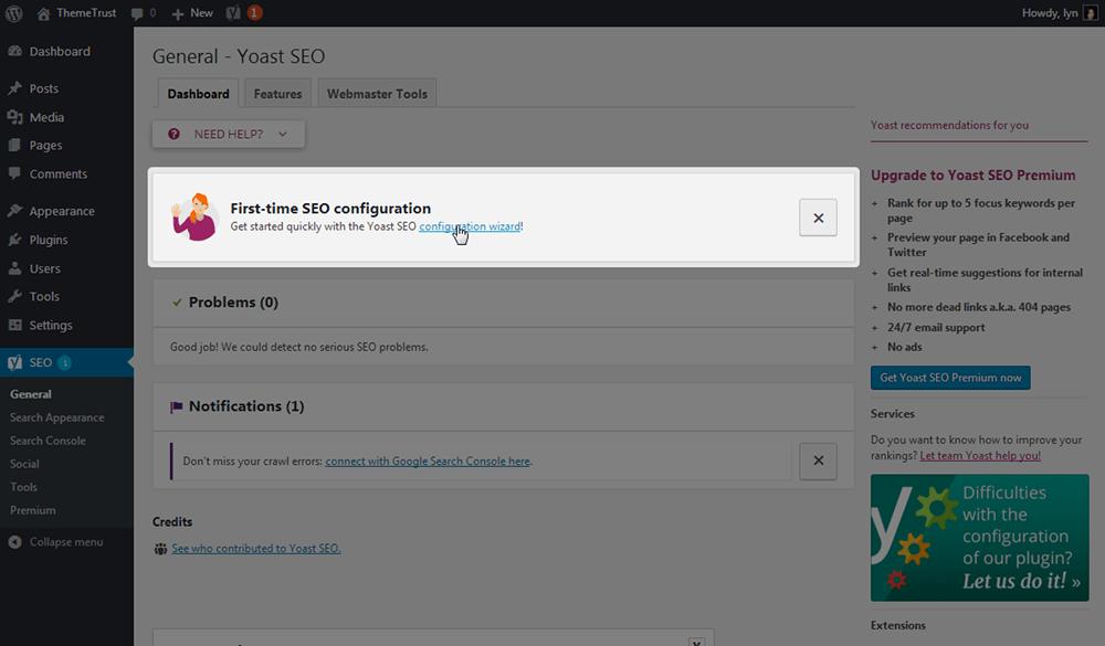 Yoast Configuration Wizard
