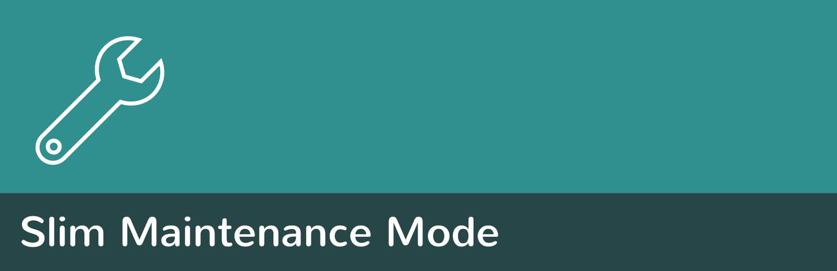 Slim-Maintenance-Mode