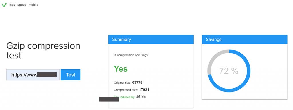 GZIP压缩启用状态检测