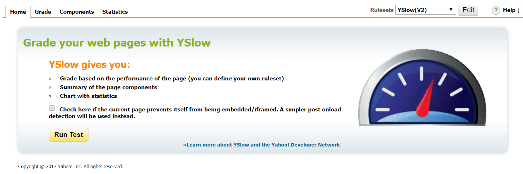yslow-speed-test-tool