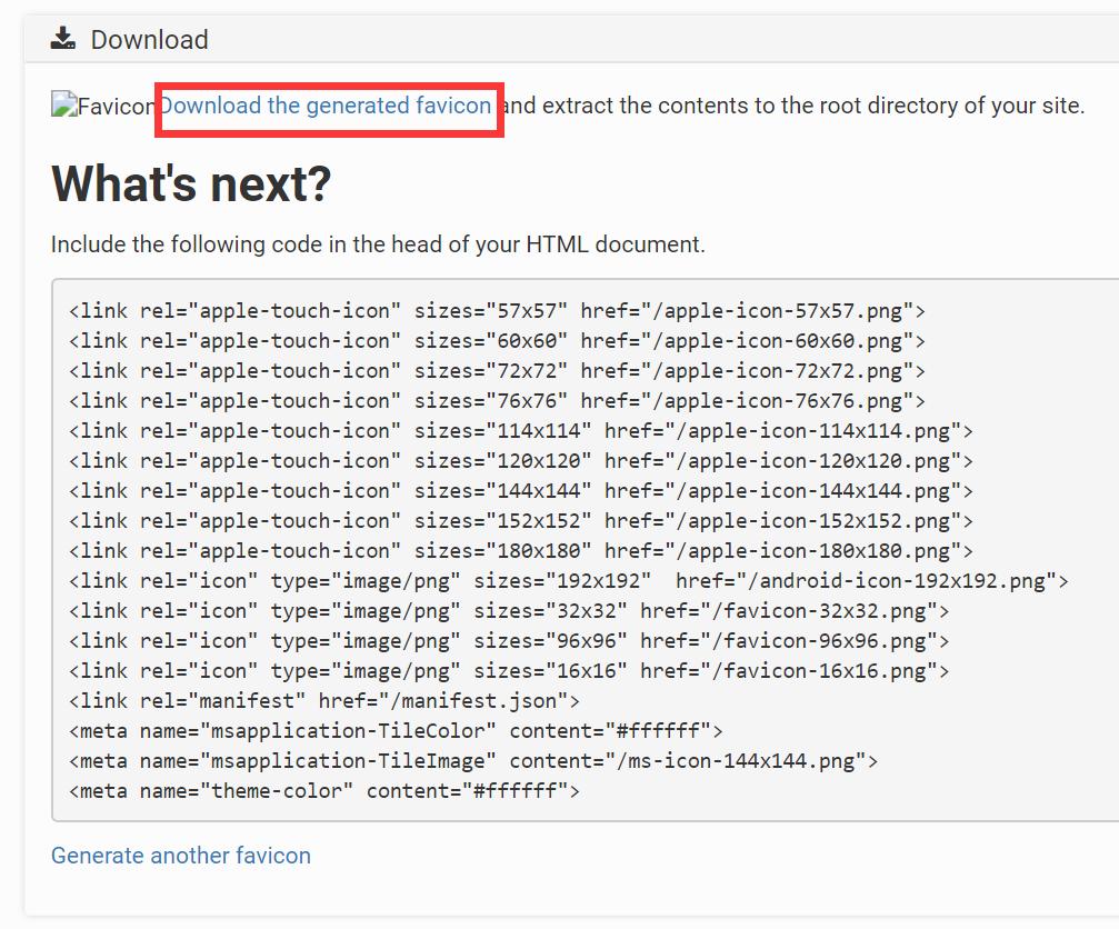 在线快速生成网址图标favicon插图2