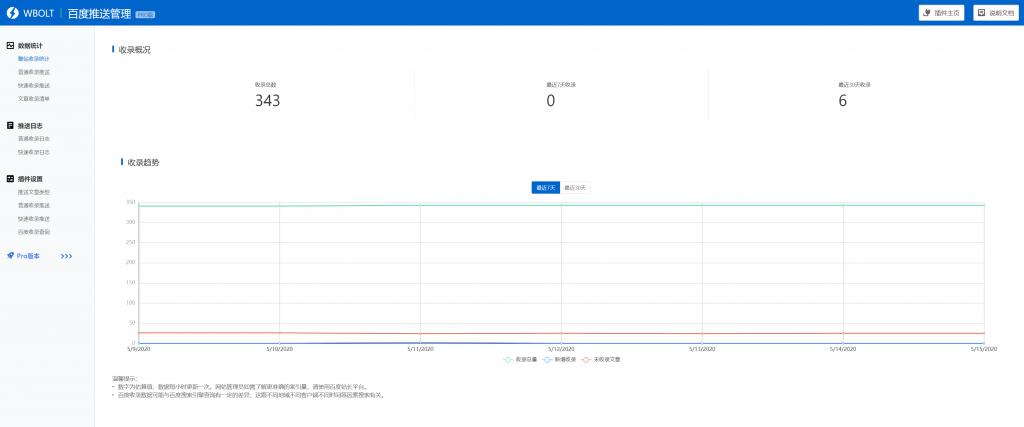 百度搜索推送管理WP插件Pro版本-提升百度收录效率插图(1)