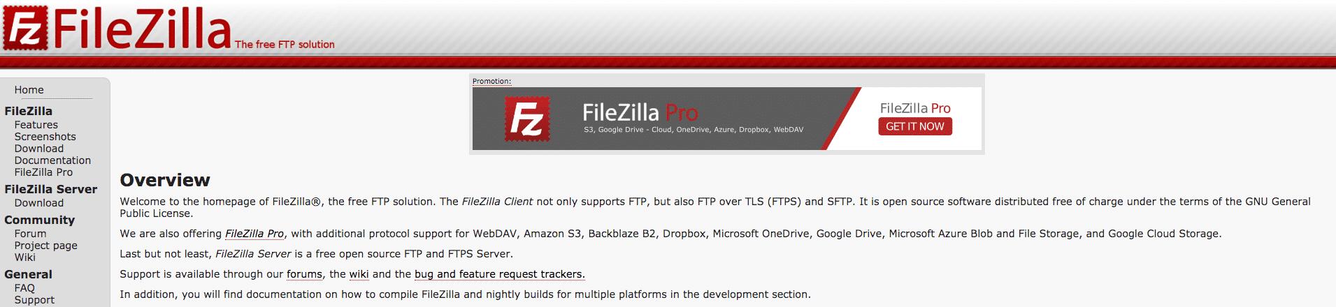 FileZilla-home