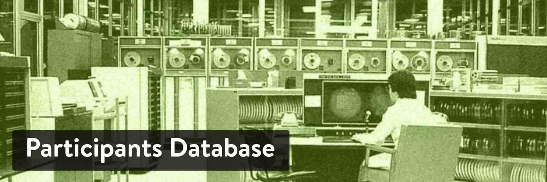 WordPress数据库插件-Participants Database