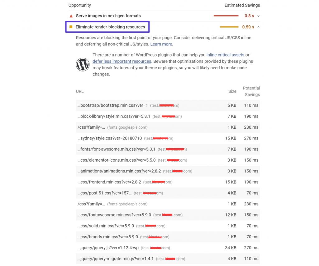 "PageSpeed Insights之""移除阻塞渲染的资源"""