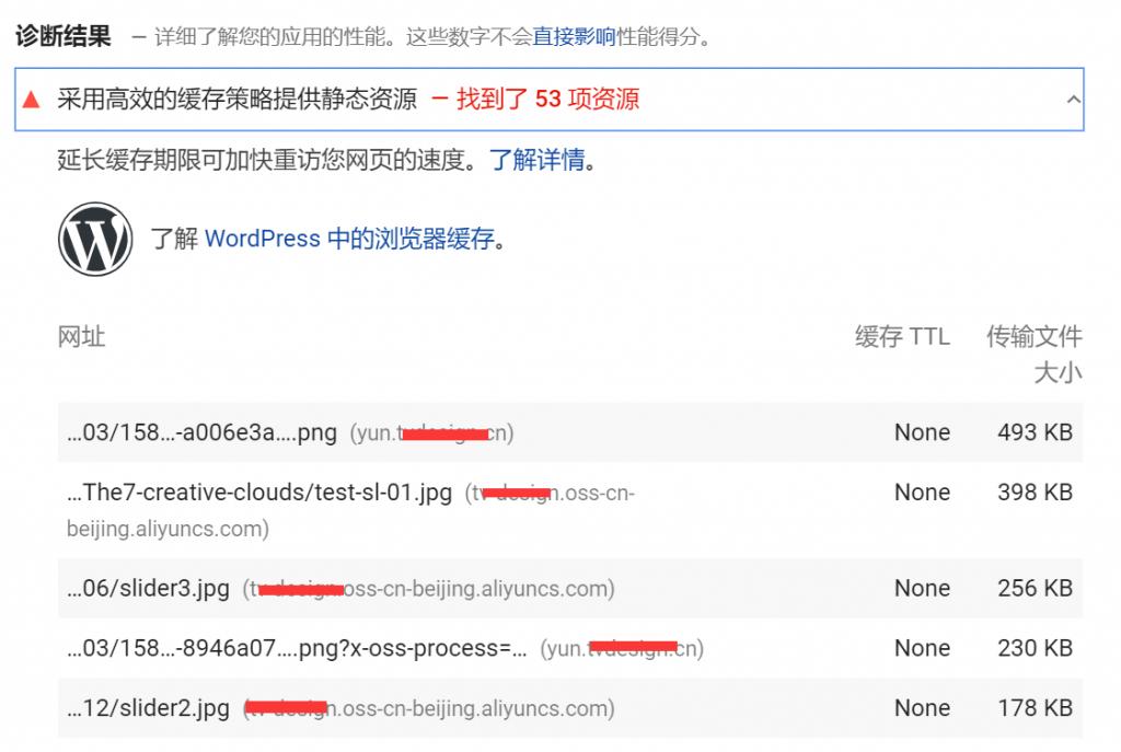 Google PageSpeed Insights之缓存策略