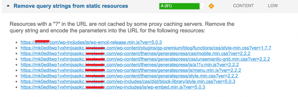 从静态资源中删除查询字符串