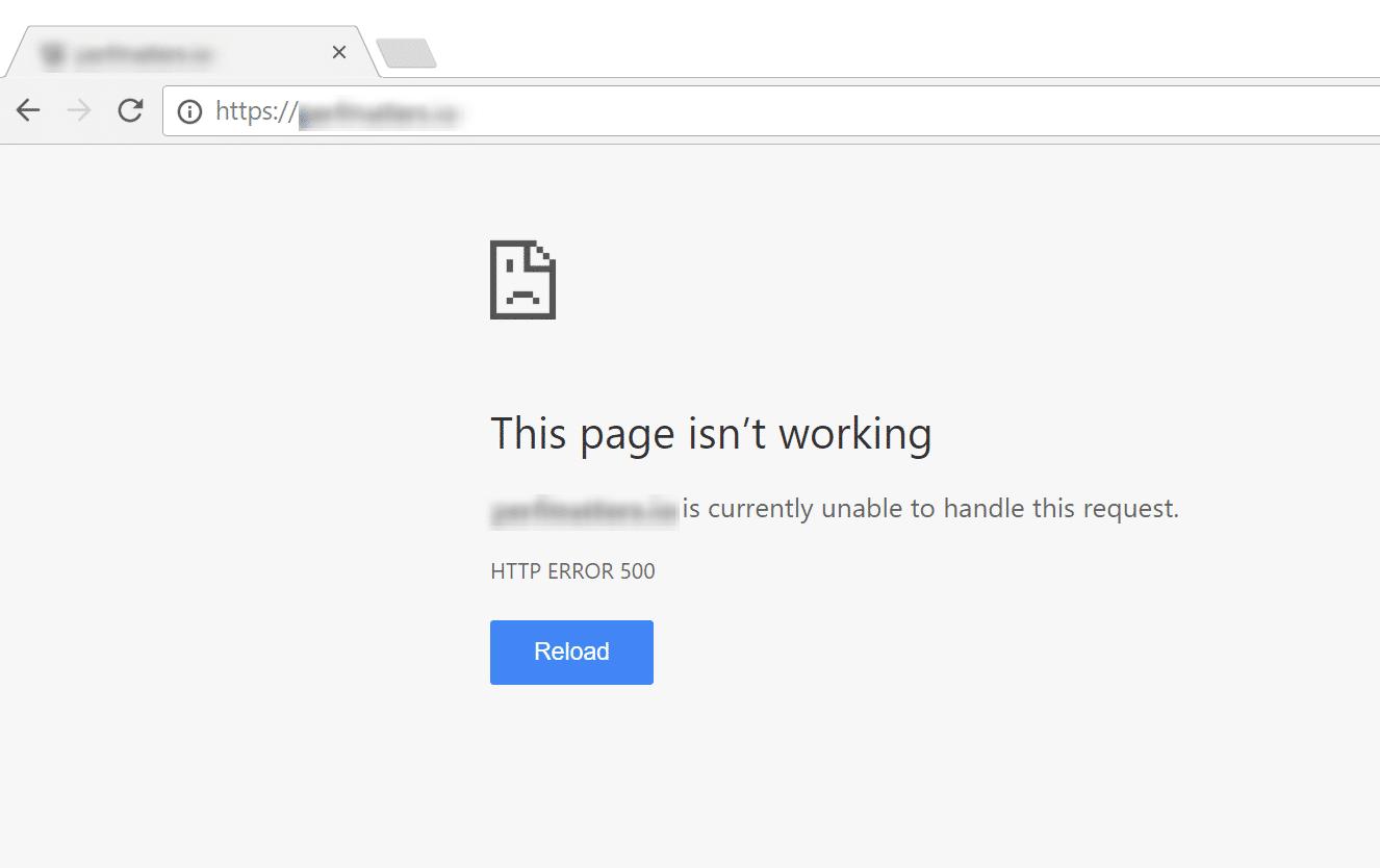 谷歌浏览器中的WordPress死亡白屏