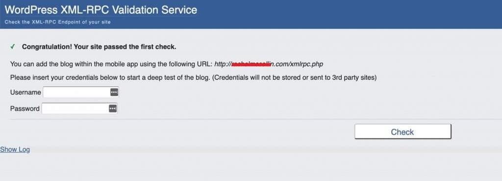网站第一次XML-RPC检测-未禁用状态