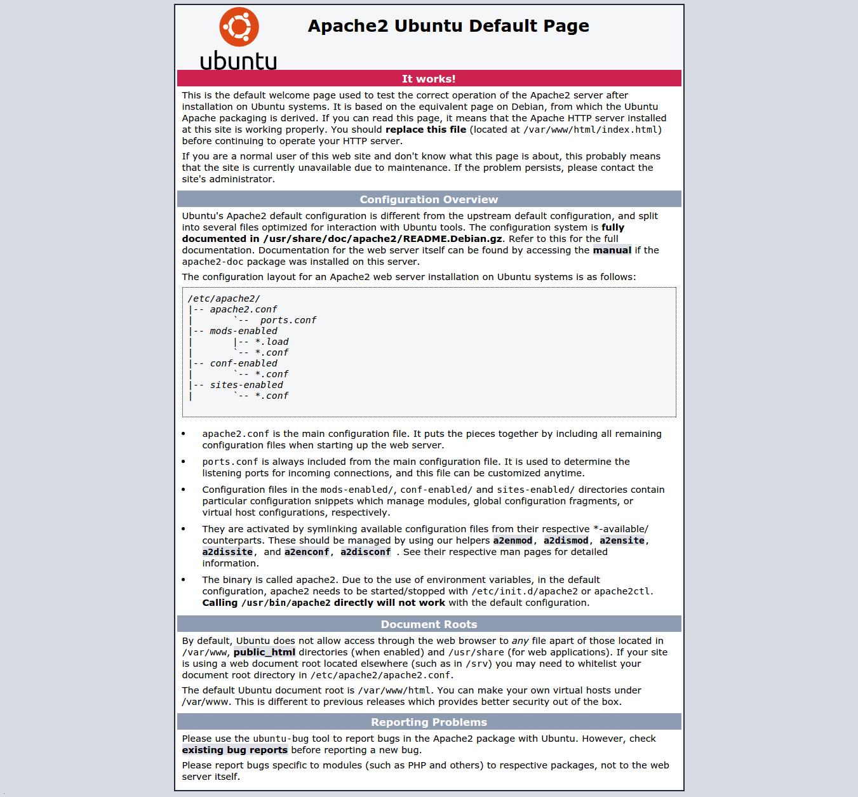 Ubuntu默认页面