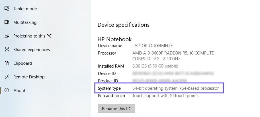 Windows系统版本信息查看