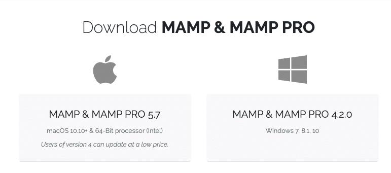 MAMP下载页面