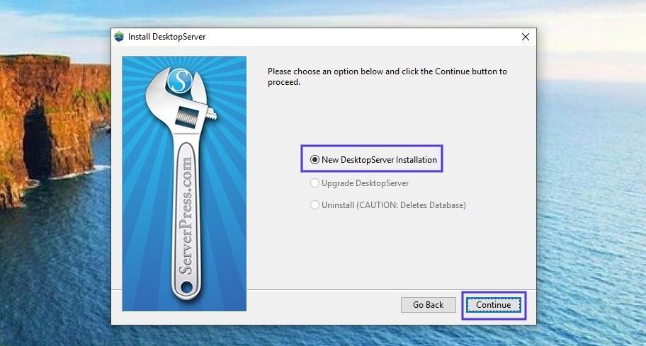 DesktopServer安装界面