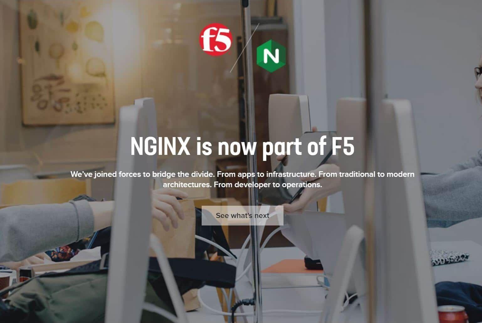 NGINX Inc被F5 Networks收购