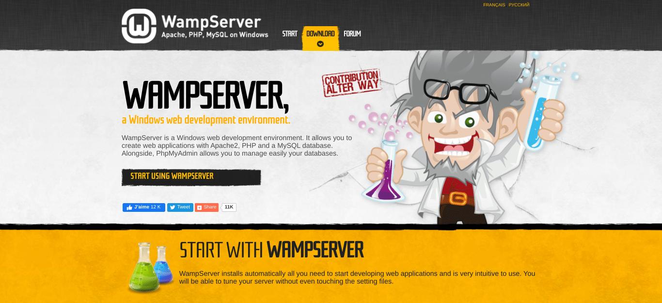 WampServer网站