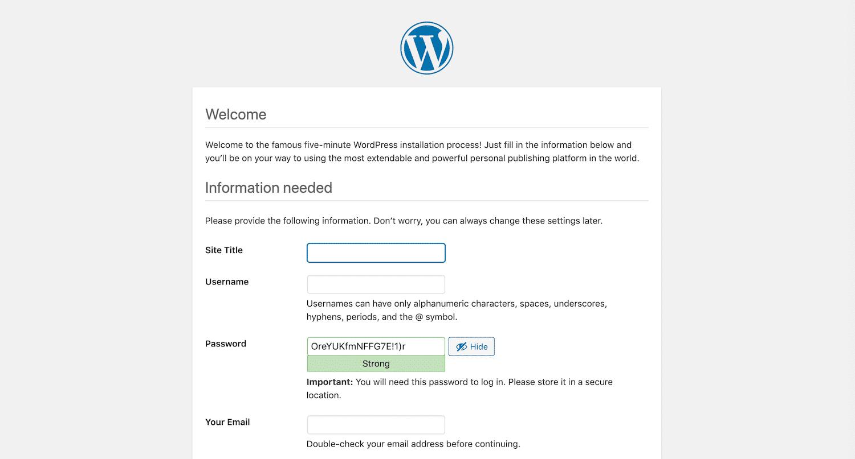 完成WordPress安装向导