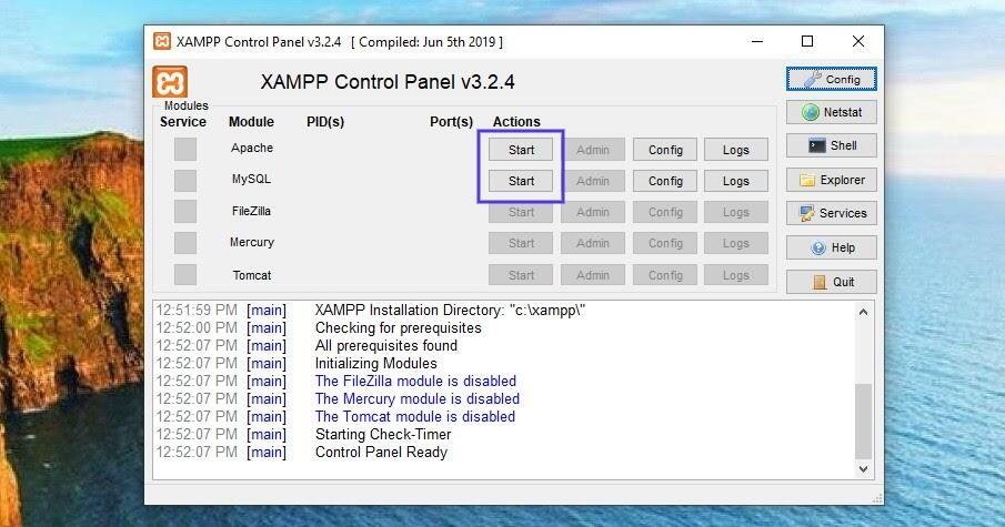 XAMPP控制面板