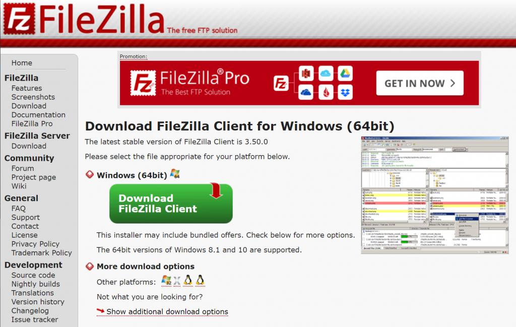 FileZilla官网