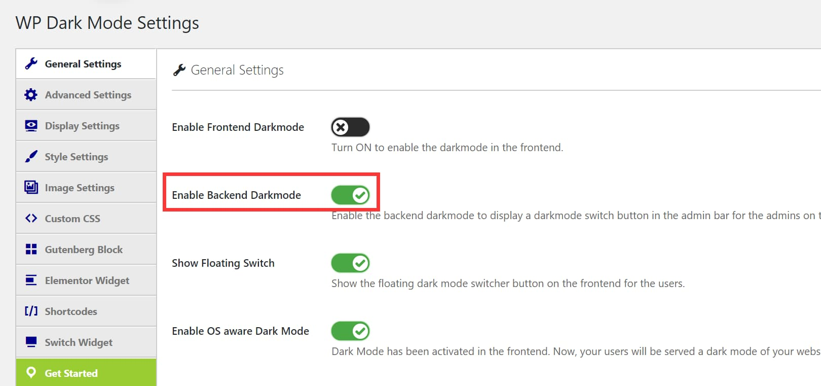 WP Dark Mode插件后台夜间模式设置