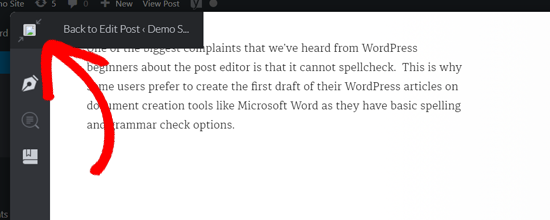 Grammarly返回WordPress编辑器