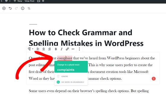 Grammarly语法建议