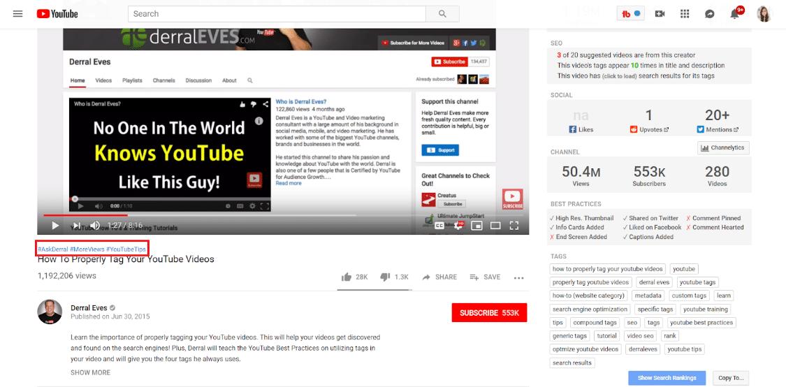 YouTube话题标签