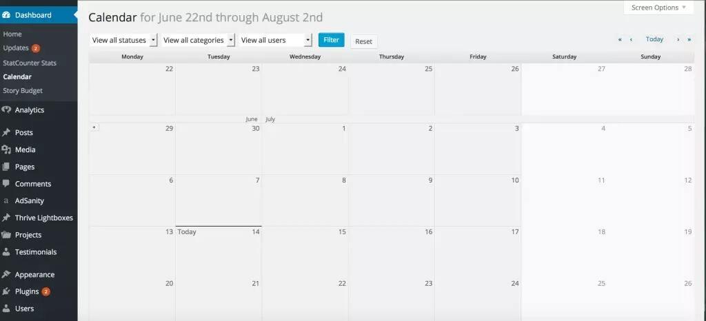 EditFlow插件自定义日历