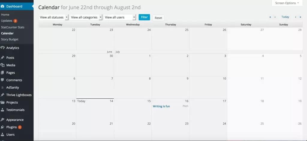 EditFlow插件日程状态