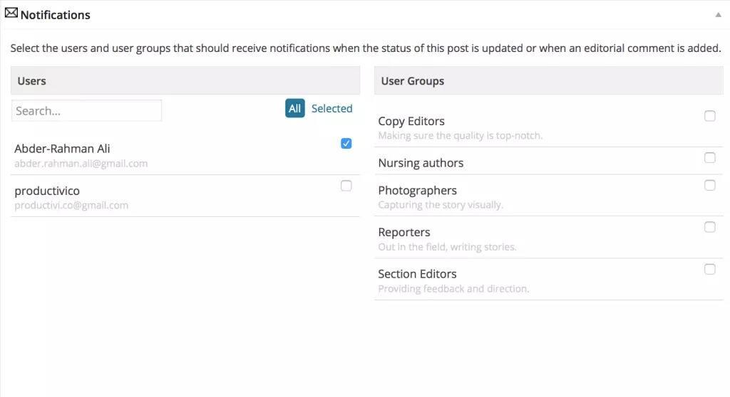 EditFlow插件通知成员管理