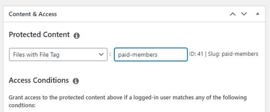 MemberPress插件文件标签设置