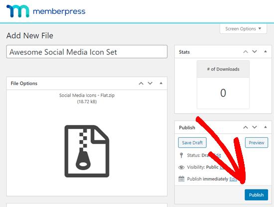 MemberPress插件内容发布