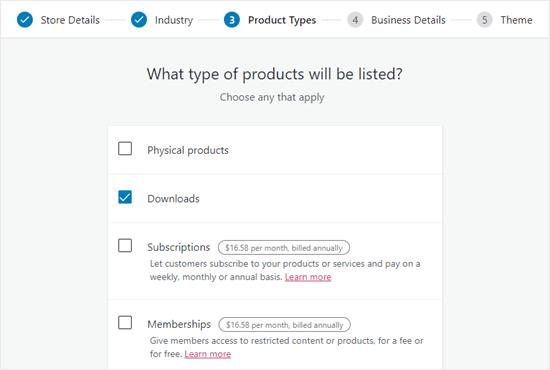 WooCommerce产品类型设置
