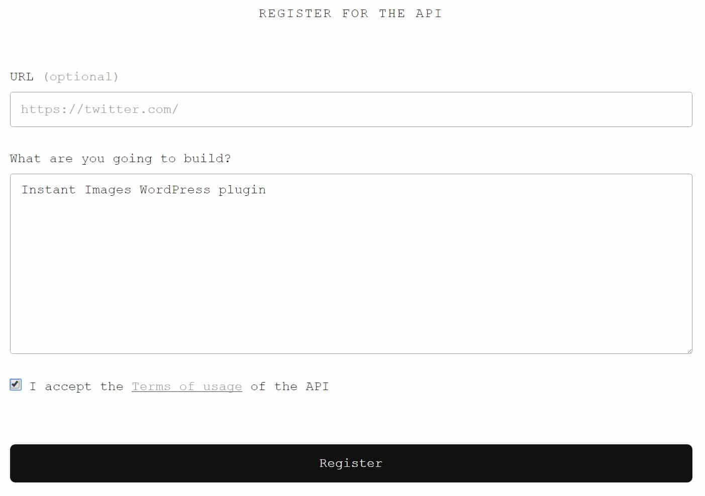 Unsplash 开发者账号注册