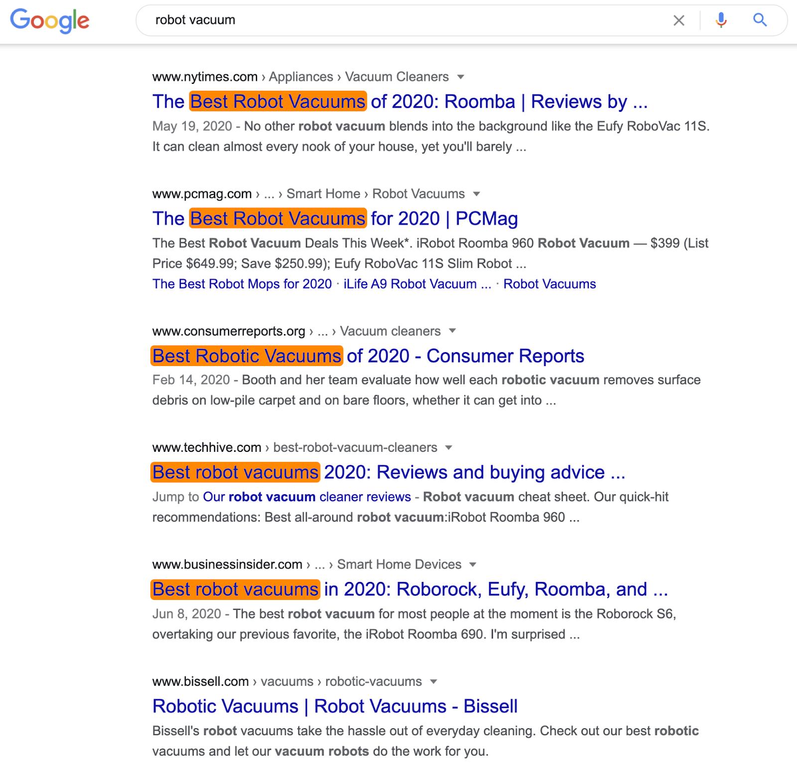 扫地机搜索引擎结果