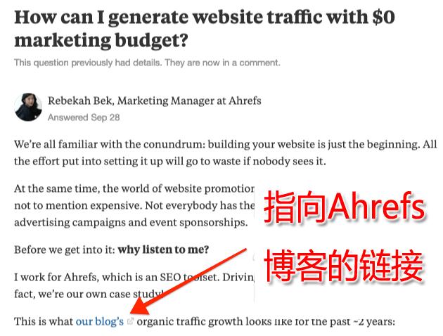 Quora网站外链建设