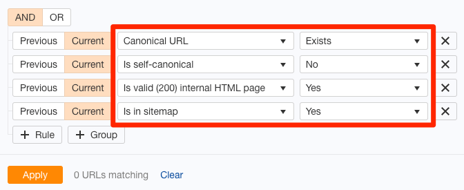 问题canonical标签页面