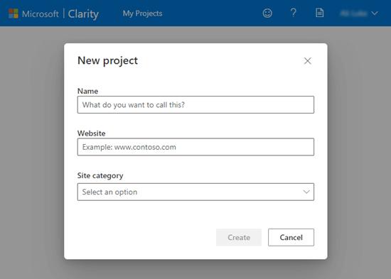创建Clarity统计网站项目