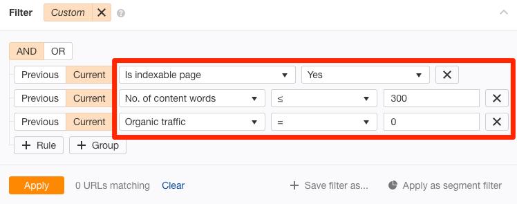 高质量页面筛选
