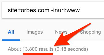 Google搜索无www域名