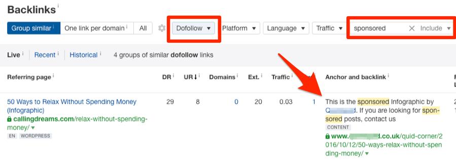 dofollow赞助链接分析