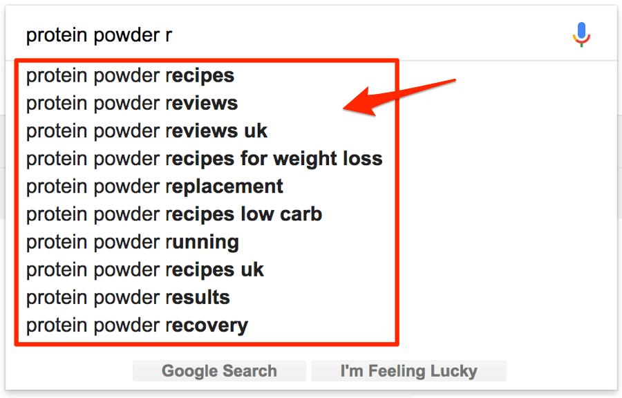 谷歌搜索关键词建议