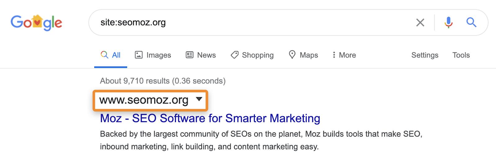 seomoz-site-search-serp-1