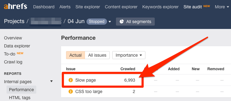 加载过慢页面检测