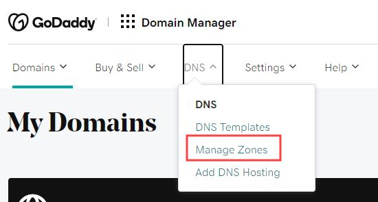 godaddy-dns-manage-zones