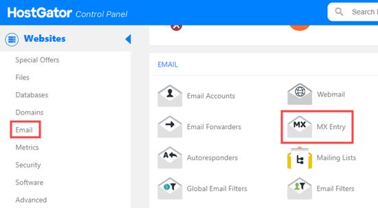 hostgator-cpanel-email-link