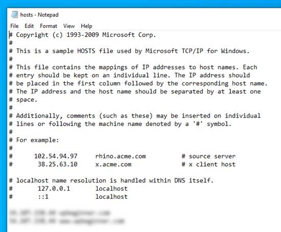 hosts文件修改