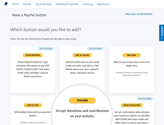 PayPal官方捐赠按钮样式
